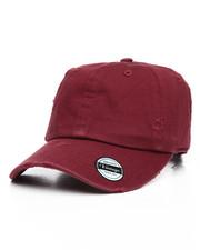 Hats - Vintage Distressed Cotton Adjustable Baseball Cap-2199452