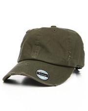 Hats - Vintage Distressed Cotton Adjustable Baseball Cap-2199454