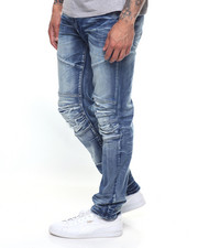 Jeans - BLOWN OUT KNEE ARC JEAN