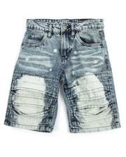 Akademiks - Pleated Rip & Repair Denim Shorts (8-20)-2199132