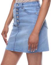 Fashion Lab - 5 Button Front Denim Skirt-2199988