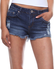 Shorts - Frayed Hem Denim Short-2199296