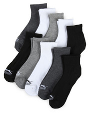 Socks - 10 Pack Cushioned Quarter Socks-2200134