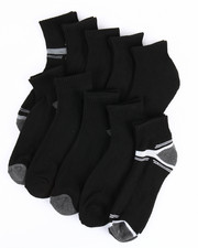 Socks - 10 Pack Cushioned Quarter Socks-2200135