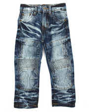 Bottoms - Knee Patch Side Pock Denim Jean (2T-4T)