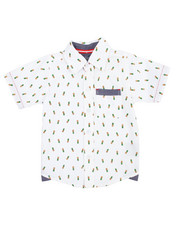Tops - Pineapple All-Over Print Woven (2T-4T)