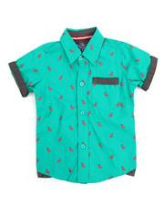 Button-downs - Flamingo All-Over Print Woven (4-7)