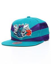 Mitchell & Ness - Charlotte Hornets Satin Slash Snapback Hat-2201224