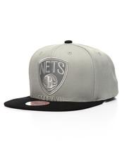 Mitchell & Ness - Brooklyn Nets Cropped Satin Snapback Hat-2201230