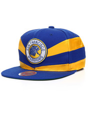 Mitchell & Ness - San Francisco Warriors Satin Slash Snapback Hat-2201228