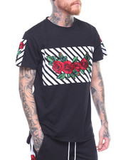 Men - EMBROIDERED ROSE S/S TEE-2202207