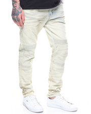 Jeans - SLIM FIT SEAM KNEE BLEACHED JEAN