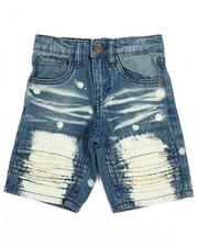 Akademiks - Pleated Rip & Repair Denim Shorts (4-7)-2201887