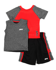 Sets - 3 Piece Shot Down Short Set (2T-4T)