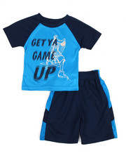 Sets - 2 Piece Get Ya Game Up Short Set (2T-4T)