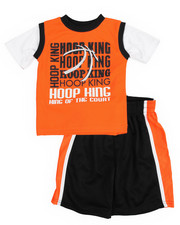 Sets - 2 Piece Hoop King Short Set (2T-4T)