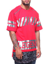Men - Legend Printed Drop Tail S/S Tee (B&T)-2202901