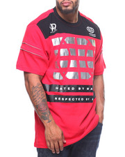 Akademiks - Respect B-Ball Metallic Print S/S Tee (B&T)-2202862