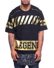 Men - Legend Printed Drop Tail S/S Tee (B&T)-2202889