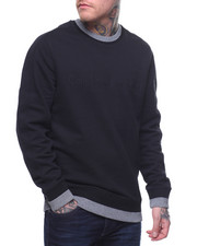 Global Movement Mens - TONAL RIB CREWNECK SWEATSHIRT-2202960