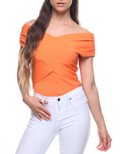 Sleeveless - Wrap Off Shoulder Top-2201751