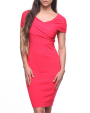Dresses - Off Shoulder Wrap Front Dress-2201743