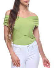 Sleeveless - Wrap Off Shoulder Top-2201747