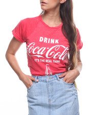 Graphix Gallery - Coca Cola Roll Cuff Shirt Tail Tee-2203995
