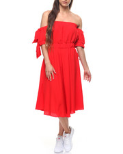 Fashion Lab - Off Shoulder Tie Sleeve Dress-2201759
