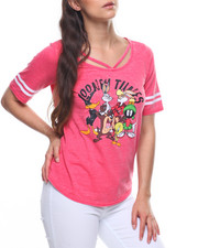 Graphix Gallery - Looney Tunes Burnout Criss Cross Neck Hockey Tee