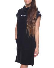 Dresses - Reverse Weave Hooded Dress-2203863