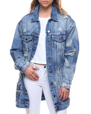 Outerwear - Verbage Oversized Denim Destructed Jacket