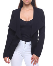 Outerwear - Cascade Front Blazer/Zip Pockets-2201763