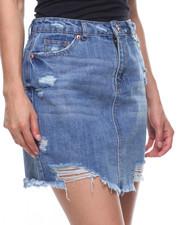 Skirts - Destructed Back Pocket Denim Skirt-2199336