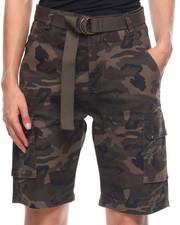 Fashion Lab - Camo Bermuda W/Belt-2203687