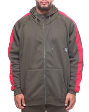 Light Jackets - Fleece Contrast Strip Hoodie (B&T)-2204919
