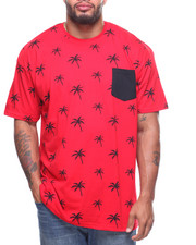 Big & Tall - S/S Crew Neck Printed Tees (B&T)-2204080