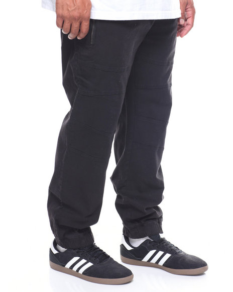 Akademiks - Mix Zip Trim Jogger (B&T)