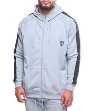 Light Jackets - Fleece Contrast Strip Hoodie (B&T)-2204927