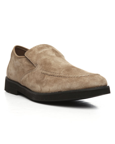 Hush Puppies - Suede Bracco MT Slip on Shoes