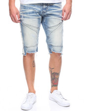SMOKE RISE - DENIM CUT OFF SHORT W SIDE STRIPE-2205353