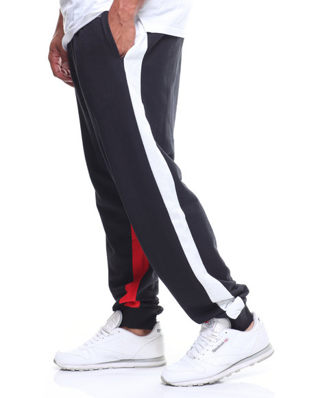 Fly Society - S/S FT Jogger Color Block Side Stripe (B&T)