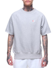 Athleisure for Men - S/S Reverse Weave Crew Neck Knit