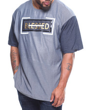 Men - S/S Blessed Mesh Applique Tee (B&T)-2206722