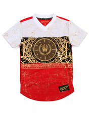 SWITCH - Color Block Foil Print Football Jersey (8-20)-2206520
