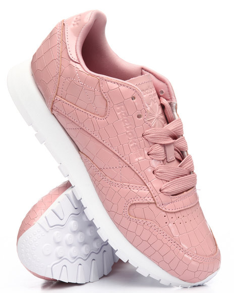 396c0cf1d84b4 Buy CL Leather Crackle Sneakers Women s Footwear from Reebok. Find ...