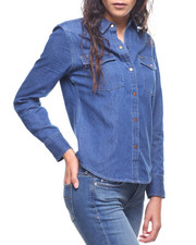 Tops - Aaron Denim Wedge Western Shirt-2207471