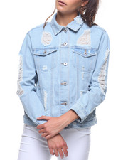 Outerwear - Destructed Denim Jacket-2207440