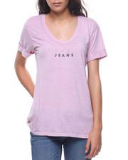 Tees - Burnout Soft Uneck Logo Tee-2207295