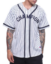 Athleisure for Men - Braided Baseball Jersey Pinstripes